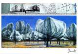Wrapped Trees No. 6 - Signed Premium Edition by  Christo