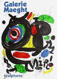 Galerie Maeght, Sculptures Collectable Print by Joan Miró