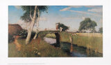 Sommer am Moorkanal Posters af Otto Modersohn