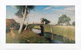 Sommer am Moorkanal Plakater af Otto Modersohn