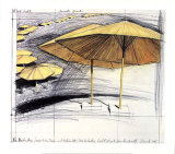 The Yellow Umbrellas III Collectable Print by Christo