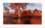 Herbst im Moor Kunst af Otto Modersohn