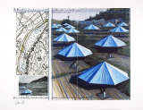 Umbrellas No. 2 Collectable Print by  Christo