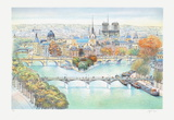 Paris, panorama vers l'Est I Limited edition van Rolf Rafflewski