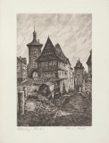 Rothenburg -Roedertor Collectable Print by  Zwicker