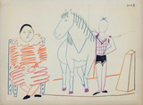 Com&#233;die Humaine : 30.1.54. III Collectable Print by Pablo Picasso