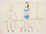 Com&#233;die Humaine : 30.1.54. I Collectable Print by Pablo Picasso