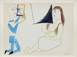 Com&#233;die Humaine : 29.1.54. V Collectable Print by Pablo Picasso