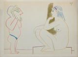 Com&#233;die Humaine : 29.1.54. III Collectable Print by Pablo Picasso
