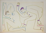 Com&#233;die Humaine : 31.1.54 II Collectable Print by Pablo Picasso