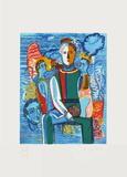 Le Peintre a Sa Palette Begränsad utgåva av Sandro Chia