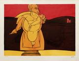 Paysage de Reine Begränsad utgåva av Valerio Adami