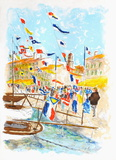 Voiliers a Saint-Tropez Limited Edition by Urbain Huchet