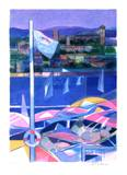 Cote d'Azur - Cannes Collectable Print by Camille Hilaire