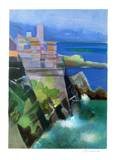Cote d'Azur - Antibes Collectable Print by Camille Hilaire