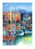 Cote d'Azur - le Port de Nice Collectable Print by Camille Hilaire