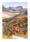 Cote d'Azur - la Montagne Ste Victoire Collectable Print by Camille Hilaire