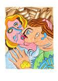 Amours I Limited Edition av Enrico Baj
