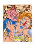 Amours III Begränsad utgåva av Enrico Baj