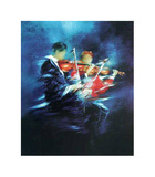 m - Les violons Collectable Print by Victor Spahn
