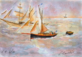 Marine IV Collectable Print by Urbain Huchet