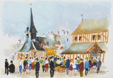 Honfleur Collectable Print by Urbain Huchet