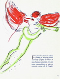 Plafond de Lopera - Lange Rouge Collectable Print by Marc Chagall