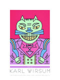 Time Cat Serigraph by Karl Wirsum