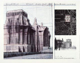 Wrapped Reichstag I Collectable Print by Christo 