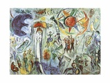La Vie 1964 Impresso de peas de colees por Marc Chagall