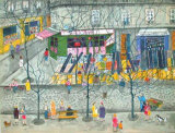 Le Cafe Chez Pedro Collectable Print by Nathalie Chabrier