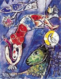 Blauer Zirkus Ausschnitt Collectable Print by Marc Chagall