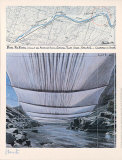 Arkansas River from Underneath - Signed Samlartryck av  Christo