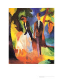 People at the Blue Lake, 1913 Prints by Auguste Macke