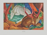 Stags in the Wood Collectable Print by Franz Marc
