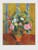 Flowers on Yellow Ground Collectable Print by Hans Purrmann