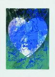 Blaues Herz Limited Edition av Hassan Hashemi
