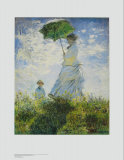 Lady with Parasol Posters by Claude Monet