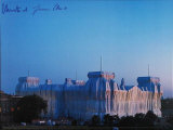 Reichstag - Abenddaemmerung - Signed Reproduction pour collectionneur par  Christo