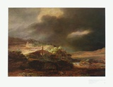 Stormy Landscape Collectable Print by  Rembrandt van Rijn