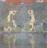 The Castle Kammer Seen from the Lake Atter Poster af Gustav Klimt