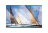 Sailing Boats Print by Lyonel Feininger