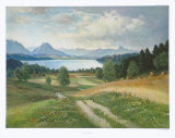 Summer on the Lake Sims Collectable Print by Yos 