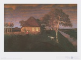Kate in Gloaming in the Evening Posters av Otto Modersohn