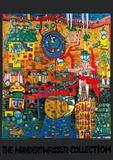30-Days, Fax-Image Plakater af Friedensreich Hundertwasser