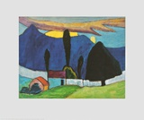 Landscape with a White Wall Prints by Gabriele Muenter