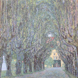 Parkway in Front of Castle Kammer at Lake Atter Posters par Gustav Klimt