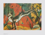 Three Cats Posters by Franz Marc