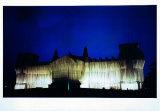 Reichstag Westfassade tiefe Nacht Photographie par  Christo