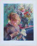 Lady Sewing Collectable Print by Pierre-Auguste Renoir